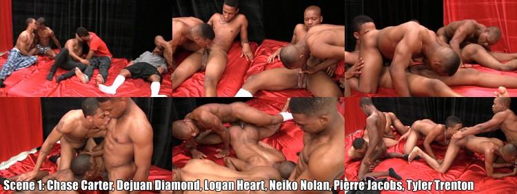 Orgy Fuckers - Scene 1: Chase Carter + Dejuan Diamond + Logan Heart aka Adrian Hart  + Neiko Nolan + Pierre Jacobs + Tyler Trenton Video Preview