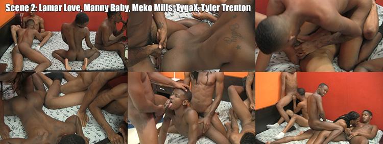 SCENE 2: Lamar Love & Manny Baby & Meko Mills & TygaX & Tyler Trenton - RAW GROUP FUCK Video Preview