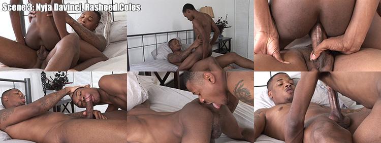 SCENE 3: Nyja Davinci & Rasheed Coles - Raw Cum Dumps Video Preview