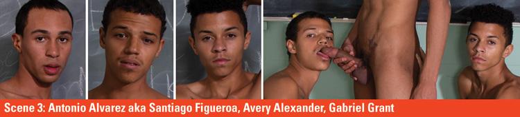 Papi Pingas #1 - Caliente - Scene 3: Antonio Alvarez aka Santiago Figueroa, + Avery Alexander + Gabriel Grant  Video Preview